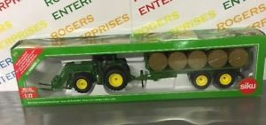 【送料無料】模型車 モデルカー スポーツカー ファーマージョンディアトタートレーラーラウンドベーラーsiku farmer 132 john deere tractor with round baler trailer amp; bales 3862