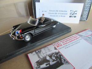 【送料無料】模型車 モデルカー スポーツカー リオジブチカブリオレドゴール883g rio 145 citron ds 19 cabriolet de gaulle 1959 djibouti 143