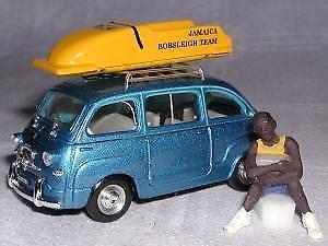 【送料無料】模型車 モデルカー スポーツカー フィアットジャマイカエドハムアッズーロfiat 600 multipla 1956 jamaica ed limit brumm azzurro 143