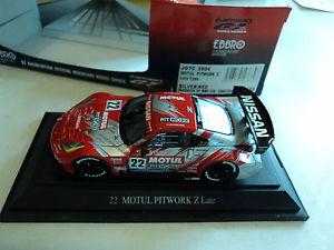 【送料無料】模型車 モデルカー スポーツカー #モチュールピットワークebbro 143 nissan 350 z 22 jgtc 2004 motul pitwork