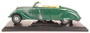 【送料無料】模型車 モデルカー スポーツカー プジョーエクリプスダークグリーンnorev 184871 peugeot 402 eclipse 1937 dunkelgrn 118 neuovp