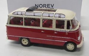 【送料無料】模型車 モデルカー スポーツカー メルセデスベンツバスレッドベージュmercedes benz o319 bus 1960 rot beige norev 118