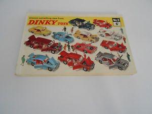 【送料無料】模型車 モデルカー スポーツカー レアイングランドデータdinky toys rare no 3 made in england original 1967 toy catalouge excellent