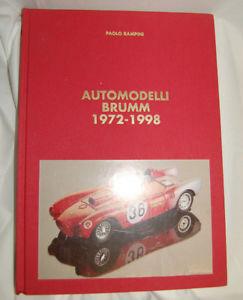 【送料無料】模型車 モデルカー スポーツカー オートハムパオロブックカタログautomodelli brumm 19721998 paolo rampini buch katalog 1998