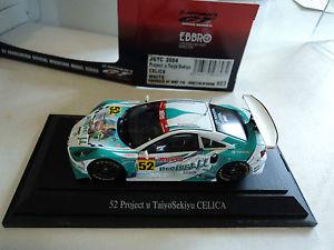 【送料無料】模型車 モデルカー スポーツカー トヨタセリカプロジェクトシェルebbro 143 toyota celica 52 jgtc 2004 project u taiyosekiyu