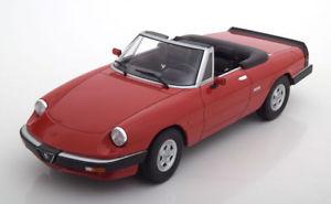 【送料無料】模型車 モデルカー スポーツカー スケールアルファロメオスパイダーシリーズレッドハット118 kkscale alfa romeo spider 3 series 2 1986 red