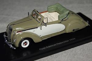 【送料無料】模型車 モデルカー スポーツカー オペルアドミラルカブリオレオリーブベージュネオopel admiral hebmller cabrio 1938 olivbeige 143 neo neu amp; ovp 43235
