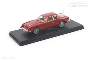 【送料無料】模型車 モデルカー スポーツカー ネオスケールモデルstudebaker avanti 1963 rot neo scale models 143 47175