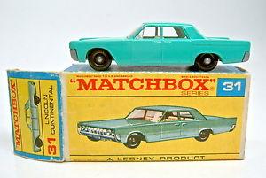 【送料無料】模型車 モデルカー スポーツカー ボックスマッチリンカーンコンチネンタルターコイズmatchbox rw 31c lincoln continental trkis in spter f box sehr gut