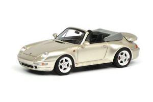 【送料無料】模型車 モデルカー スポーツカー ポルシェカブリオレグレーschuco 143 porsche 911 cabrio, grau