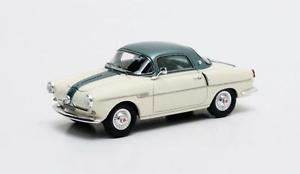 【送料無料】模型車 モデルカー スポーツカー フィアットクーペシルバーグリーンメタリックマトリックスfiat 600 viotti coup silvergreen metallic 1959 matrix 143 mx30602082
