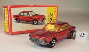 【送料無料】模型車 モデルカー スポーツカー クーペメタリック#majorette 160 nr 235 bmw 30 csi coupe rotmetallic ovp 028