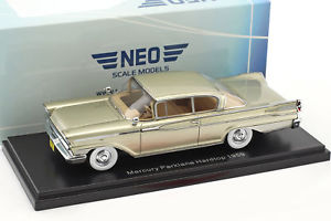 【送料無料】模型車 モデルカー スポーツカー ベージュパークレーンネオmercury park lane hardtop baujahr 1959 beige metallic 143 neo