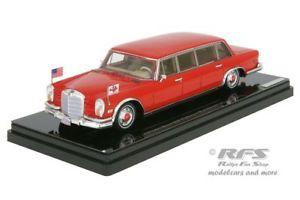 【送料無料】模型車 モデルカー スポーツカー メルセデスベンツプルマンレッドバロンヒルトンファミリーモデルmercedesbenz 600 pullman red baron hilton family 1972 143 tsm model 154340
