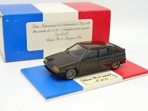 【送料無料】模型車 モデルカー スポーツカー ヒコシトロエンスープマロンサロンパリheco modles rsine 143 citroen bx 16 soupapes marron salon paris 1988 25 ex