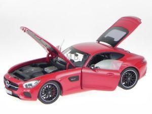 【送料無料】模型車 モデルカー スポーツカー メルセデスレッドモデルカーmercedes c190 amg gt 2015 rot modellauto 183496 norev 118
