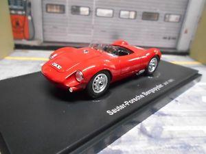 【送料無料】模型車 モデルカー スポーツカー ポルシェスパイダーレッドマウンテンオーストリアカルトsauter porsche 550 bergspyder rot red austria 1957 resin neu autocult 143