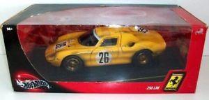 【送料無料】模型車 モデルカー スポーツカー ホットホイールフェラーリ#レースバージョンhot wheels 118 29753 ferrari 250 lm 26 post race dirty version yellow