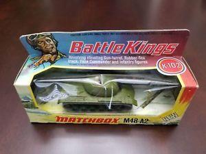 【送料無料】模型車 モデルカー スポーツカー マッチタンクカラートライアルオリーブボディrare matchbox battle kings k102 m48a2 tank colour trial all over olive body