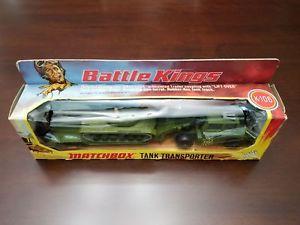 【送料無料】模型車 モデルカー スポーツカー マッチタンクトランスポーターオリーブカラートライアルkrare matchbox battle kings k106 tank transporter colour trial all olive k102