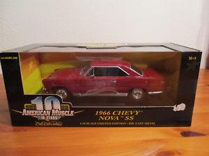 【送料無料】模型車 モデルカー スポーツカー アメリカシボレーノバss118 ertl american muscle 1966 chevy nova ss neu ovp