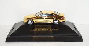 【送料無料】模型車 モデルカー スポーツカー ベンツパソコンherpa mercedesbenz cls 500 dcvdcollection nr 11 gold 187 in pc und ovp