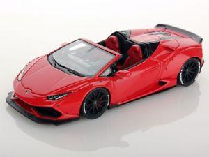 【送料無料】模型車 モデルカー スポーツカー ランボルギーニスパイダーアフターマーケットロッソマーズlooksmart lamborghini huracan spyder aftermarket rosso mars 143 ls470c