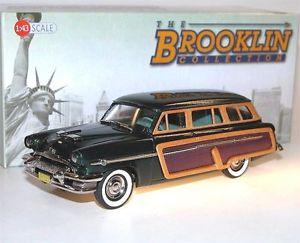 【送料無料】模型車 モデルカー スポーツカー マーキュリーモンテレーステーションワゴンbrooklin brk 188a, 1954 mercury monterey station wagon, woodie, green, 143