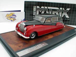 【送料無料】模型車 モデルカー スポーツカー ウェッブシルバーmatrix 51705251 freestone amp; webb silver wraith bj 1957 schwarzrot 143