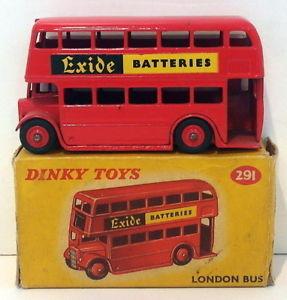 【送料無料】模型車 モデルカー スポーツカー ビンテージロンドンバスvintage dinky 291 london bus red