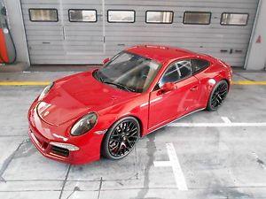 【送料無料】模型車 モデルカー スポーツカー ポルシェカレーペダークレッドporsche 911 991 carrera gts coupe 2015 dark red rot neu schuco 118