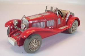 【送料無料】模型車 モデルカー スポーツカー マイクロレーサーメルセデスタイプビンテージ#schuco micro racer 10431 mercedes typ ssl 1928 rot vintage 60er jahre 1387