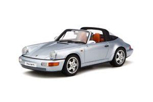 【送料無料】模型車 モデルカー スポーツカー ポルシェタルガシルバーモデルカーporsche 911 964 targa 1991 silber, modellauto 118 gt spirit