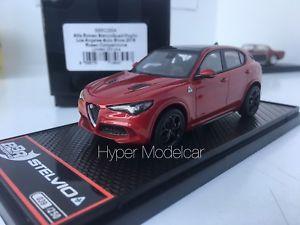 【送料無料】模型車 モデルカー スポーツカー モデルアルファロメオbbr model 143 alfa romeo stelvio q4 quadrifoglio v6 biturbo 2016 red bbrc200a