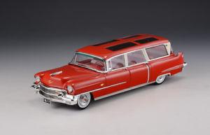 【送料無料】模型車 モデルカー スポーツカー キャデラックスカイビューワゴンcadillac broadmoor skyview wagon red 1956 glm 143 218001