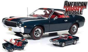 【送料無料】模型車 モデルカー スポーツカー ブレザーモデルカーワールドamc amx hardtop 1968 blazer blue 118 164 model amm1124 auto world