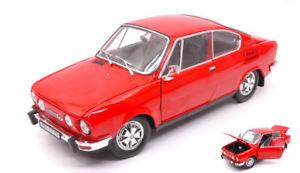 【送料無料】模型車 モデルカー スポーツカー シュコダクーペモデルネットワークskoda 110r coupe 1980 red 118 model abrex
