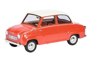 【送料無料】模型車 モデルカー スポーツカー セダンschuco pror 00097 118 goggomobil limousine rotweiss neu