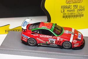 【送料無料】模型車 モデルカー スポーツカー スクーデリアイタリアガソリンフェラーリ#ルマンgasoline bbr ferrari 550 52 bms scuderia italia le mans 2005 143