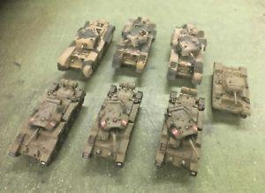 【送料無料】模型車 モデルカー スポーツカー バレンタインタンクタンク××チャーチルタンクvalentine tank,x3 crusader tank,x3 churchill tanks 17220mm painted metal tanks