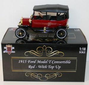 【送料無料】模型車 モデルカー スポーツカー モーターシティスケールフォードモデルレッドトップアップmotor city classics 118 scale 88133 1915 ford model t conv red top up