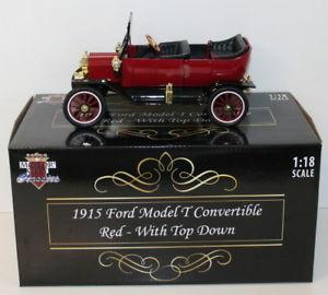 【送料無料】模型車 モデルカー スポーツカー モーターシティスケールフォードモデルレッドトップダウンmotor city classics 118 scale 88141 1915 ford model t conv red top down