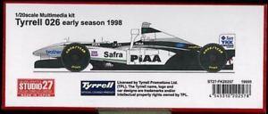 【送料無料】模型車 モデルカー スポーツカー スタジオティレルウイングstudio 27 tyrrell 026 early mit xwing, 1998, 120