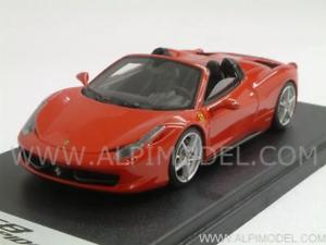 【送料無料】模型車 モデルカー スポーツカー フェラーリスパイダーロッソferrari 458 spider 2011 rosso 143 looksmart ls393a