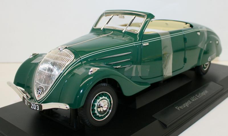 【送料無料】模型車 モデルカー スポーツカー スケールプジョーエクリプスダークグリーンnorev 118 scale 184871 1937 peugeot 402 eclipse dark green
