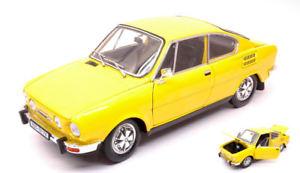 【送料無料】模型車 モデルカー スポーツカー シュコダクーペモデルネットワークskoda 110r coupe 1980 yellow 118 model abrex
