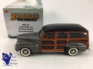 【送料無料】模型車 モデルカー スポーツカー フォードステーションワゴン143 brooklin bml 23 ford v8 station wagon woodie 1948