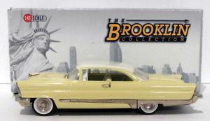 【送料無料】模型車 モデルカー スポーツカー スケールリンカーンプレミアイエローホワイトbrooklin 143 scale brk99  1956 lincoln premier 2dr yellowwhite