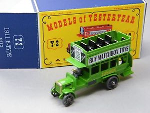 【送料無料】模型車 モデルカー スポーツカー マッチロンドンバスライトグリーンマッチクラブmatchbox yesteryear y2 london bus hellgrn buy matchbox toys clubtreffen dbox