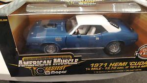 【送料無料】模型車 モデルカー スポーツカー ァープリマスオリジナルボックスneues angebot118 plymouth hemi cuda 1971 blauwei ertl limited edition neu in ovp